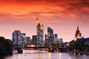 Frankfurt puesta de sol